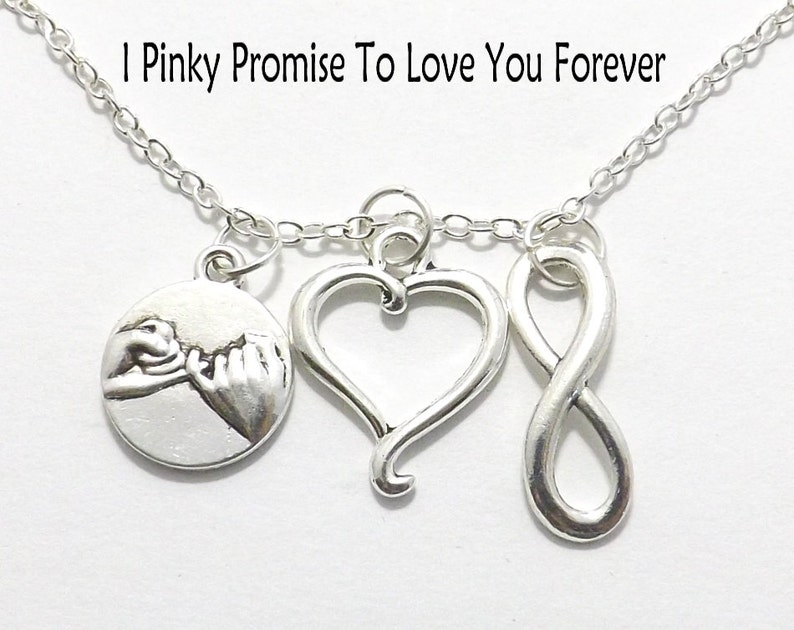 3876ef77f7 Forever Necklace I Pinky Promise to Love You Forever | Etsy