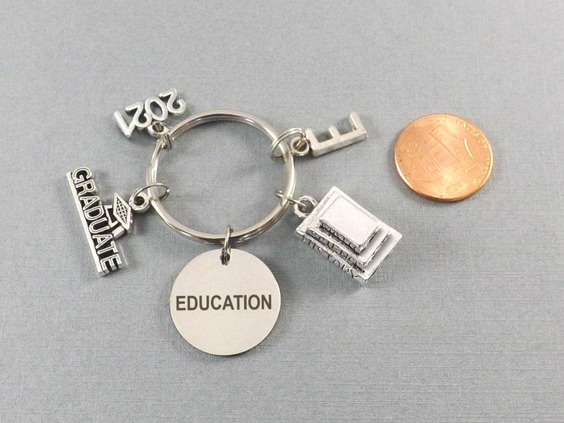 College Gift Teacher Graduation Gift 2021 Keychain Teaching Degree Graduation Gift for Him Gift for Her Education College Graduate