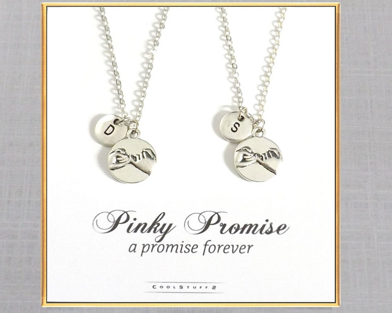 0da3222754 Best Friend Gift 2 Pinky Promise Necklaces THE ORIGINAL | Etsy