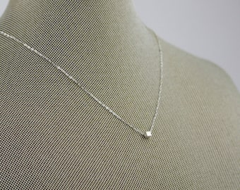 Minimal Necklace/Dainty Necklace/Silver Necklace/Layering Necklace/Bridesmaid Necklace/Minimalist Necklace/Gift For Women/Simple Necklace