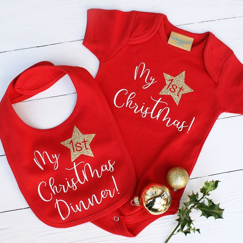 b5b4f5d84 My First Christmas Babygrow | Etsy