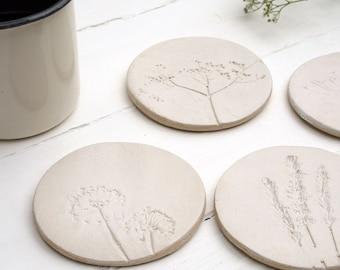 Wild Flower Ceramic Coasters