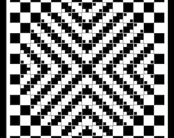 3d quilt pattern | Etsy