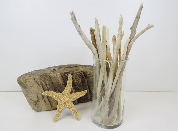5 10 Driftwood Sticks Beach Decor Driftwood Vase Etsy