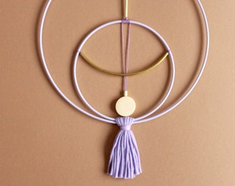 WALLHANGING DOUBLE LOOP • Lilac • Wall decoration