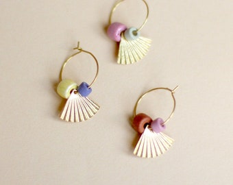 CREOLEN • abstract shell • Brass & pastel in 3 variants