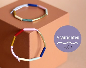 ARMBAND • Colorful sprinkles • NOW in 4 colour variants • Ceramics and brass