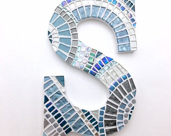 Wall Letters Home, Decorative Letters, Mosaic Letter Art, Personalized Mosaic, New Home Gift, Initial Decor, Gallery Wall, Housewarming Gift