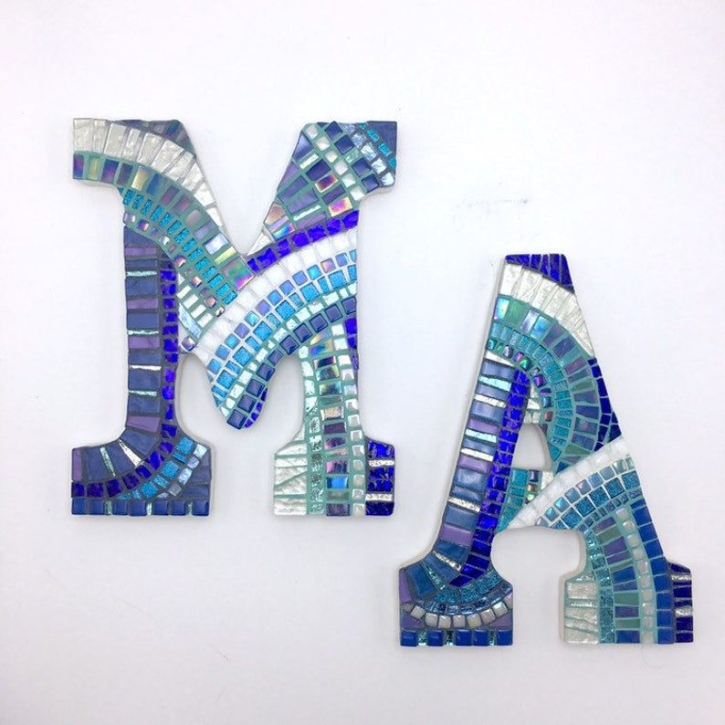 Mosaic Letters for Gallery Wall Decor, Mosaic Wall Art, Family Wall Letter,  Custom Mosaic Initials, Unique Nursery Letters, Boys Room Decor