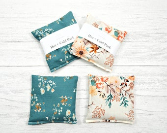 Hot cold packs, floral heat, flax seed hot pack, heat therapy, first aid, hand warmer, microwavable heat pack, heating pad, woman's heat pad