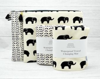 e186f050e8dd5 Baby Change mat, diaper changing mat, travel changing pad, waterproof changing  mat, mat for diaper bag, baby girl gift, elephant baby gift
