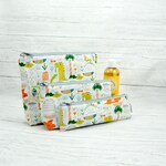 Kids Toiletry bag, kids wash bag, toothbrush case, zippered pouch, pencil case, diaper clutch,waterproof bags, dinosaur bags, paleontologist