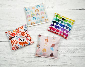 Hot cold packs, booboo pack, flax seed hot pack, heat therapy, kids first aid, hand warmer, microwavable heat pack, kids cold pack, heat pad
