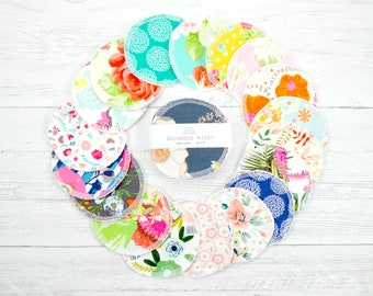 Reusable wipes, reusable face pads, eye makeup remover pad, round wipes, reusable cotton rounds, face wipe, facial rounds, gift for women