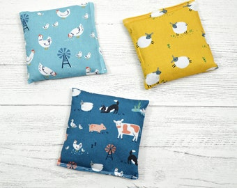 Hot cold packs, booboo pack, flax seed hot pack, heat therapy, kids first aid, hand warmer, microwavable heat pack, chicken gift, heat pad