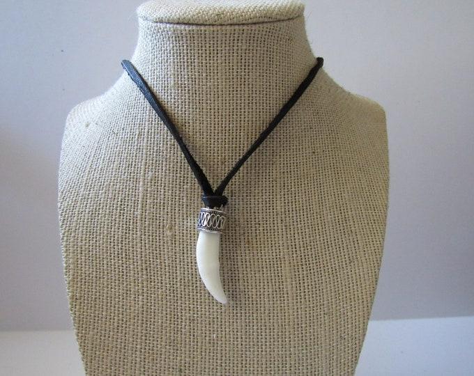 Coyote Tooth Pendant Necklace Animal Bone Spirit Animal Jewelry N918