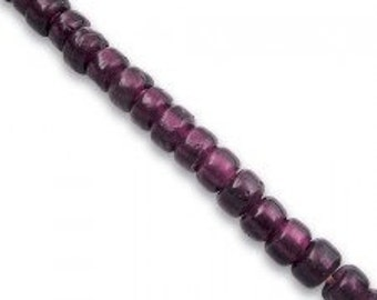 Glass Crow Beads 9mm  DARK PURPLE 100 per strand Jewelry/Craft Projects