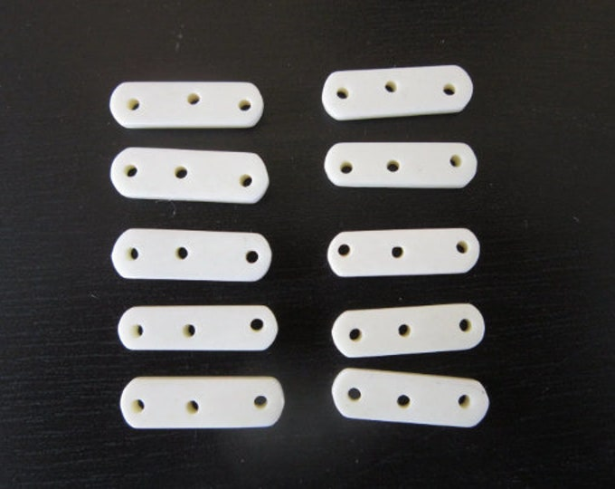 Bone Spacer Choker Bead 3 hole White Beads Buffalo Bone  Tribal Jewelry Supplies Craft Supplies