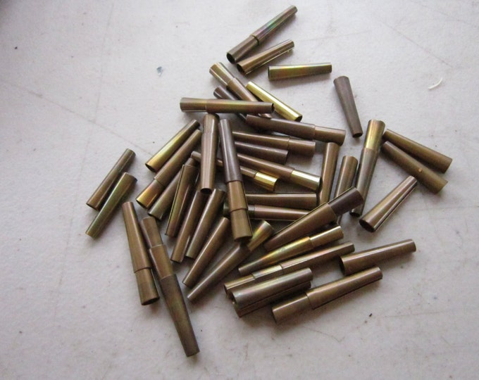 "100 Brass Metal Cones 1"" Brass Cones  Craft Supplies Leather Supplies Regalia Pow Wow"