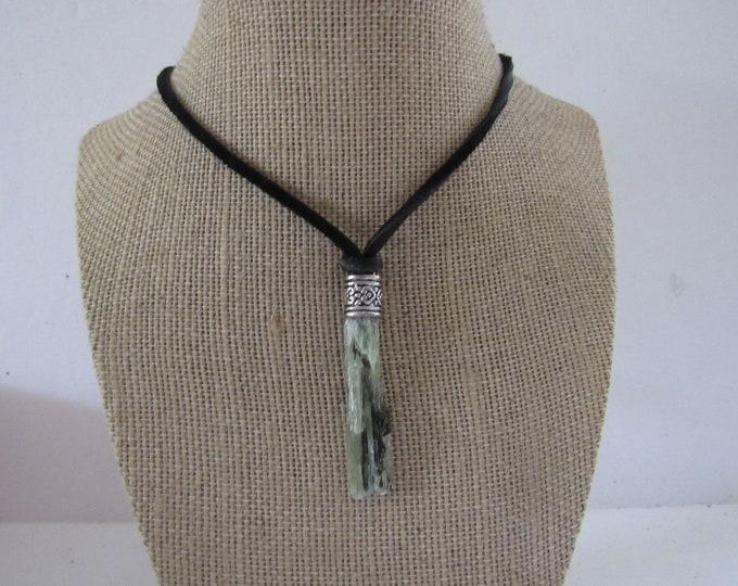 Green Kyanite Pendant Crystal Kyanite Necklace Jewelry Boho Jewelry N1242