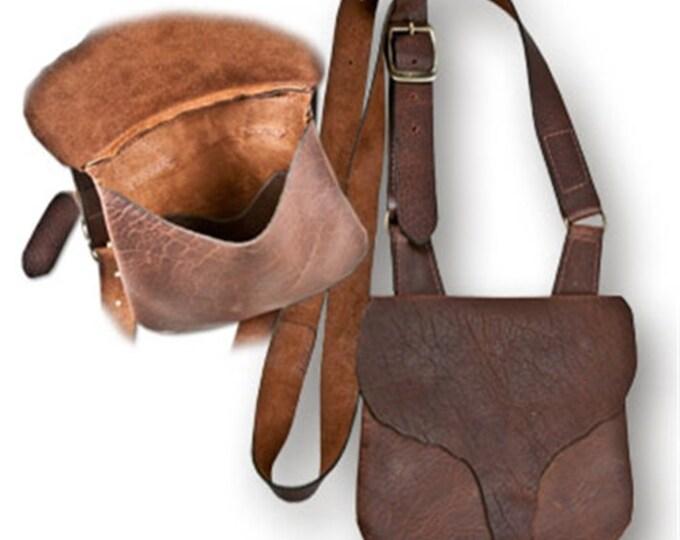 Bucktail Flap Longhunters  Possibles Bag Shooters American Bison Buffalo Leather Reenactors Black Powder Hunting