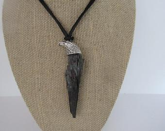 Black Kyanite Pendant Eagle Necklace Jewelry Crystal Boho Jewelry N1211