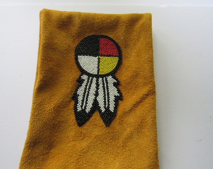 Possibles Pouch Belt Bag  4 Direction Medicine Wheel Leather Rendezvous Long Hunter Mountain Man