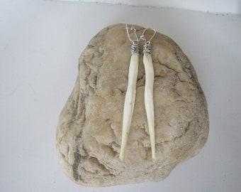 Coyote Penis Bone Earrings Dangle The Love Bone Boho Jewelry Burning Man Baculum Animal Bone Jewelry