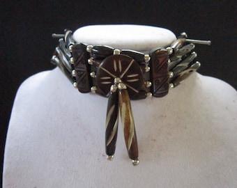 Buffalo Bone Choker Bone Necklace Black Regalia Native Necklace Tribal Choker Boho Jewelry