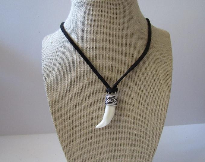 Coyote Tooth Pendant Necklace Animal Bone Spirit Animal Jewelry N917