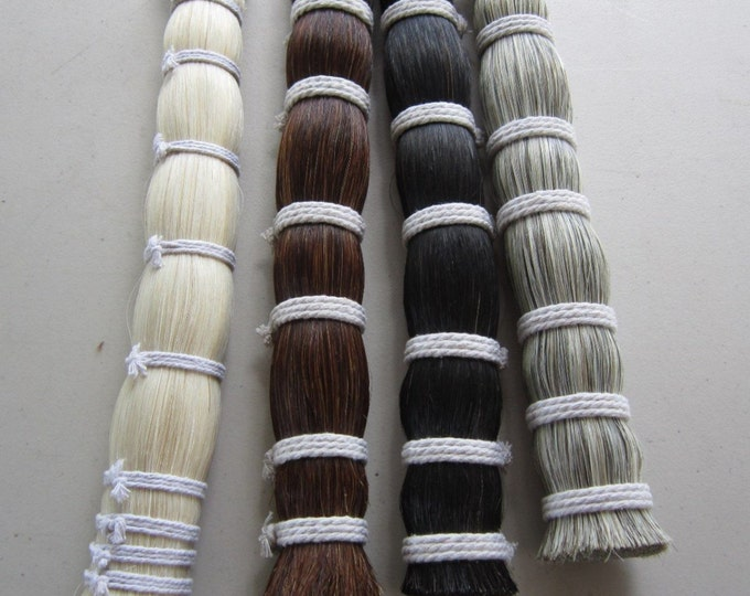 1/8  Pound  HORSE HAIR BUNDLE Quality Natural Horsehair Crafts Pow Wow  Regalia choose color