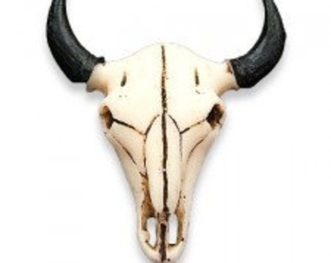 RESIN BUFFALO SKULL Tribal  Pendants or Beads bp40 Jewelry Craft Making