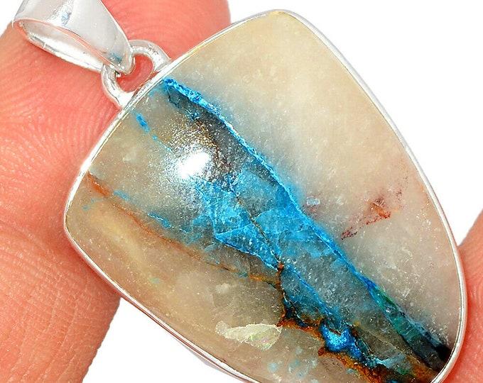 Rare Quantum Quattro Pendant Crystal Necklace 925 Silver Boho Jewelry P635