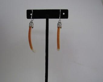 Porcupine Teeth Earrings Dangle Earrings  Animal Bone Jewelry E 294