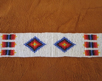 Glass Beaded Strip 3 sizes  Tribal Regalia Bead work Leather Craft Sewing   S4