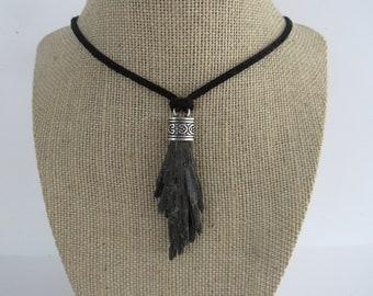 Black Kyanite Pendant Kyanite Necklace Jewelry Crystal Boho Jewelry N1214