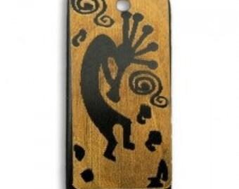 2 kokopelli  Pendants or Beads Carved Buffalo Horn Jewelry Craft Making bp63