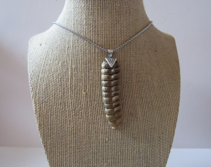 Rattlesnake Rattler Pendant Snake Necklace Spirit Animal Bone Jewelry Boho N909