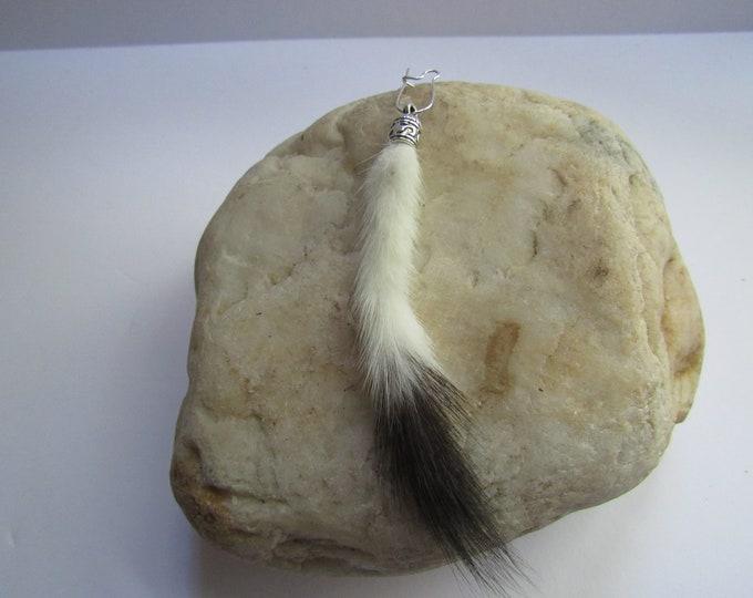 Ermine Tail Earring Weasel Tail Earring Dangle Animal Fur Jewelry Boho Jewelry E116