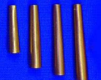 "100 Brass  1 1/4"" Metal Cone  Cones  Craft  Supplies Regalia Pow Wow"