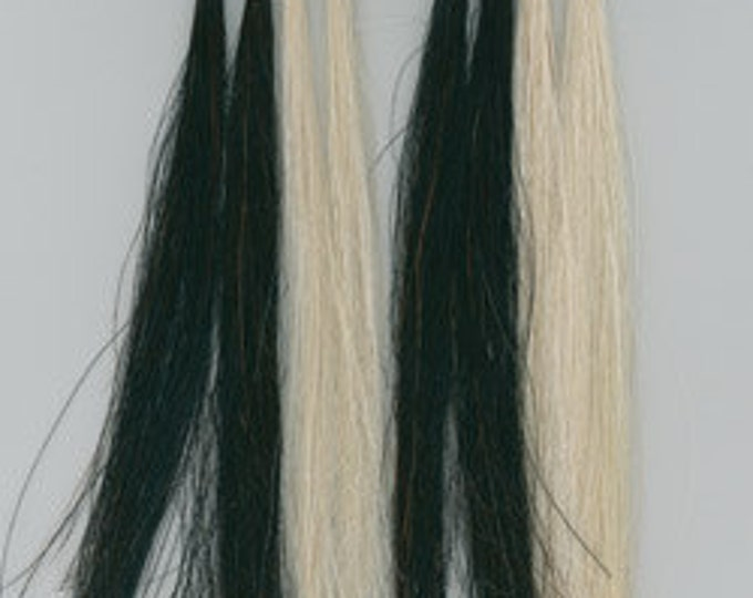 "8"" Horse Hair Scalp Locks Black or White Native Crafts Tribal Pow Wow Regalia Jewelry"