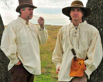 18th Century Work Shirt Men's Cotton Pullover Rendezvous Civil War Re-enactor Clothing