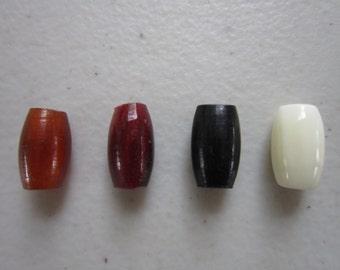 "50   Buffalo Bone/Horn 1/2""  Hairpipe Beads Amber, Black Red & White Jewelry/craft Making"