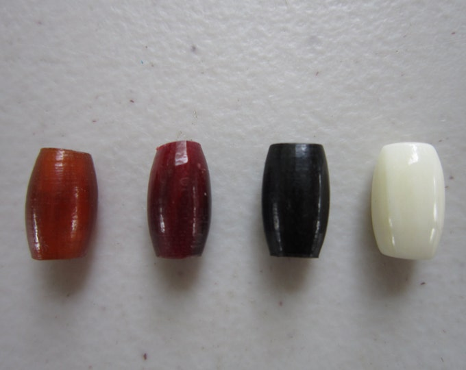 "50   Buffalo Bone/Horn 1/2""  Hairpipe Beads Amber, Black Red & White Jewelry/craft Making"