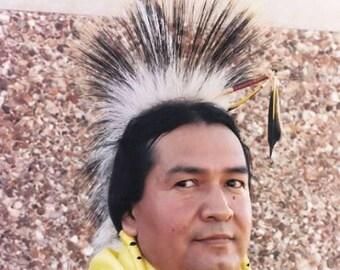 """Porky Roach White Deer Kit 15"""" Base Pow Wow Regalia Dance Native DIY"""