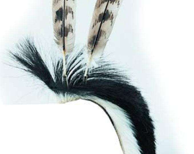 Horsehair  Roach Kit Tribal Pow Wow Regalia Pow Wow Rendezvous Craft Kit