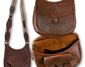 Woodland Beavertail  Possibles Bag Shooters American Bison Buffalo Leather Reenactors Black Powder Hunting
