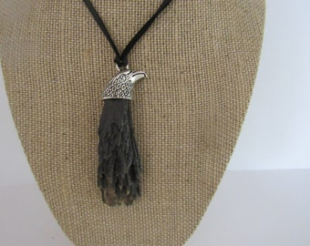 Black Kyanite Pendant Eagle Necklace Jewelry Crystal Boho Jewelry N1210
