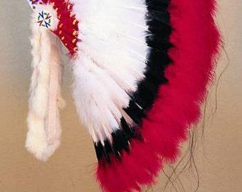 Deluxe Warbonnet Headdress Head Dress indian Regalia Pow Wow Tribal