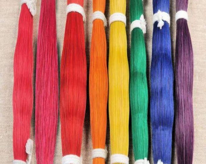 1 oz  Dyed Horsehair Horse hair Natural Quality Crafts Pow Wow  Regalia Leather craft  Rainbow Choice of Colors